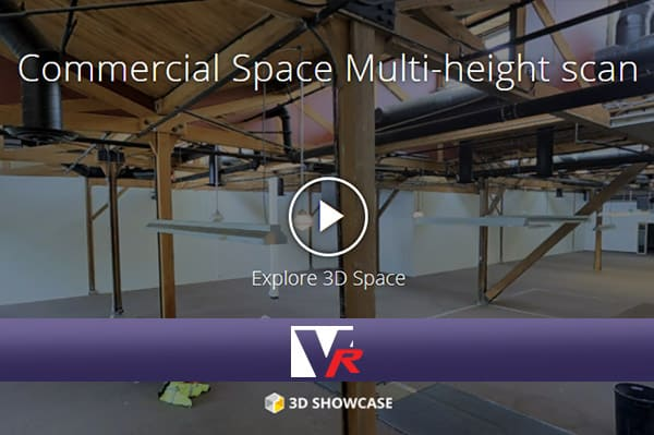 Commercial multi height building presented by VRMedia with 360 VR TOUR, online photo quality 3D displays.