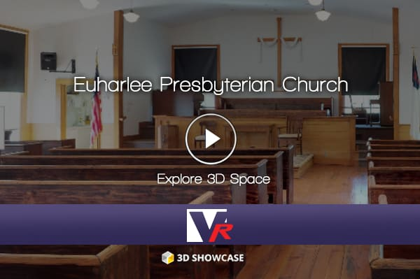 Church with 3D 360 VR TOUR, online photo quality displays, great for historcial buildings.
