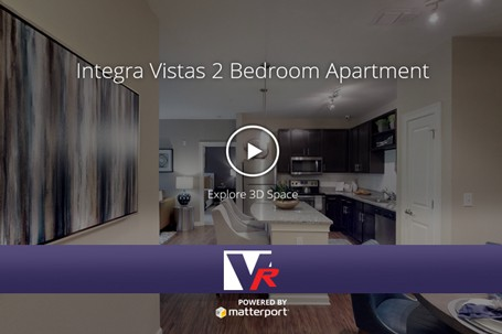 Integra Vistas Apartments with 3D 360 VR TOUR, online photo quality displays, great for any apartment buildings.