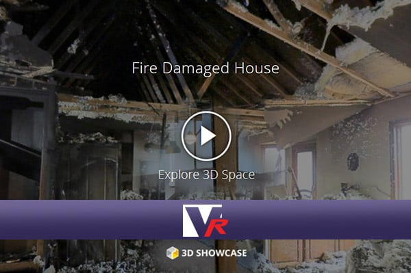 home with Fire damage presented by VRMedia with 360 VR TOUR, online photo quality 3D displays.