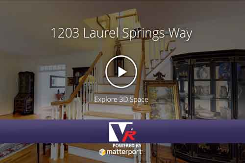 Insided a house with 3D 360 VR TOUR, online photo quality displays.