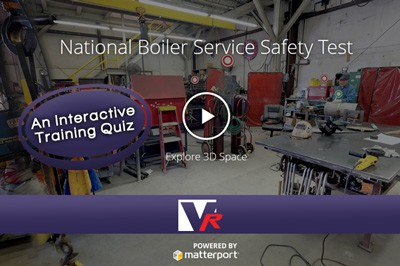 Insided the national boiler factory with 3D 360 VR TOUR, online photo quality displays, great for training.