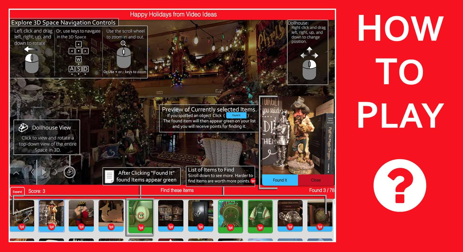 aBoBtails 3D 360 Christmas Scavenger Hunt_help_screen4